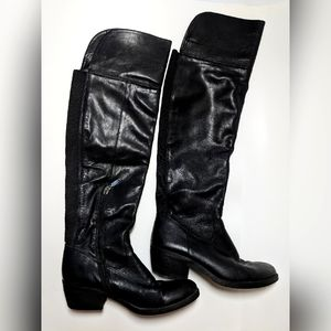 G by Guess Mid Calf Knee Riding Boots Black 7.5